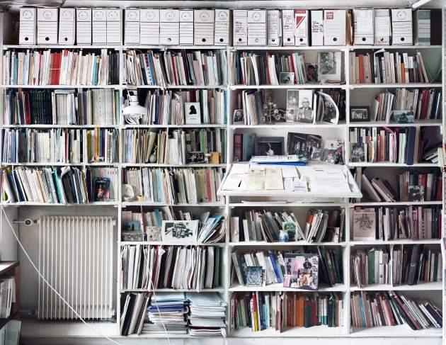 Sección de la biblioteca de Derrida