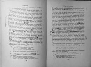 R. Barthes, Racine con notas de Derrida